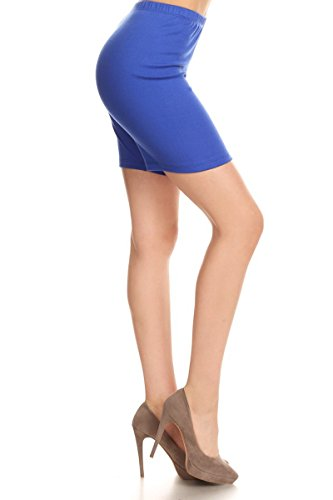 Leggings Depot Women's Premium Cotton Soft Bike Shorts NCL16