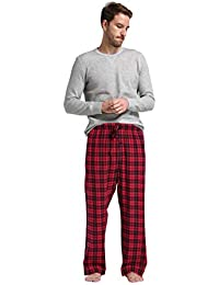 CYZ Men s 100% Cotton Super Soft Flannel Plaid Pajama Pants 9a5a8137a