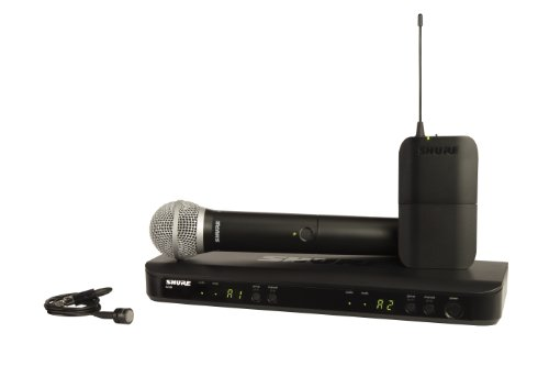 Shure BLX1288/PG85 Wireless Combo System with PG58 Handheld and PG185 Lavalier Microphones, ()