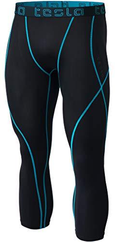 TM-MUC18-TRN_X-Large Tesla Men's Compression Capri Shorts Baselayer Cool Dry Sports Tights ()