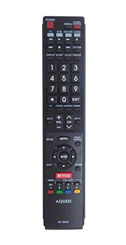 ECONTROLLY New Lost Replaced Remote for SHARP AQUOS TV LC70LE745U LC70LE845U LC70LE8470U LC70LE847U LC70UD1U LC70UD1U LC80LE632U LC80LE632U LC80LE633U LC80LE633U LC80LE657U LC80LE844U