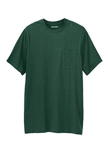 KingSize Men's Big & Tall Shrink-Less Lightweight Longer-Length Crewneck Pocket