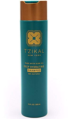 T'zikal Deep Hydrating Shampoo with ojon oil to repair dry damaged hair. Shampoo Moisturizing for Color Treated Hair and Very Dry Curly Hair. Natural products for Damaged Hair with no parabens