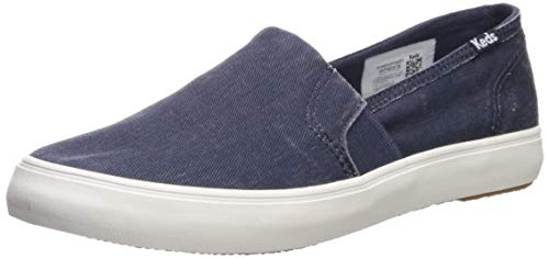 Keds Women's Clipper Washed Solids Sneaker, Navy, 11
