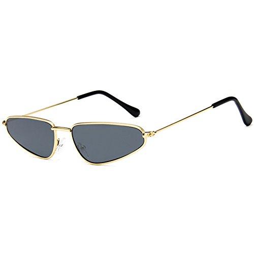 Gris de forme Glod goutte UV400 Cat Vintage lunettes protection amp; soleil petit les pour été Eye femmes Rétro d'eau qUFvt1a