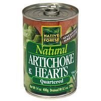 Native Forest Natural Artichoke Hearts, Quartered 14-ounce Cans (Pack of 6)