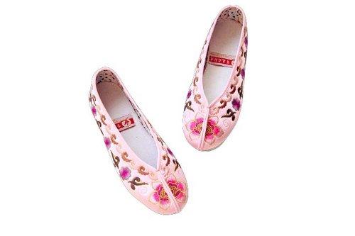 Flache Pink bequeme Frauen 110 On Seidenbrokat Casual Handgemachte Slip Sohle Schuhe Espadrilles tWTTPrqSnx