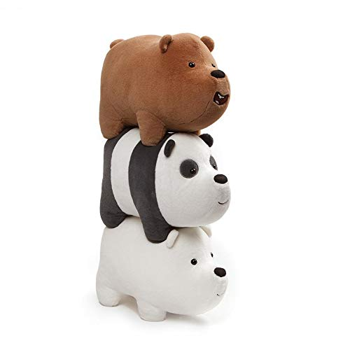 Gund - we Bare Bears 5 x 3.5 Inch Magnetic Stackable Set of 3 Plush - 3.5 Inch Bear