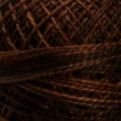 (Valdani Perle Cotton Size 8 Embroidery Thread, 72 Yard Ball - p12 Vintage Hues Brown (variegate))