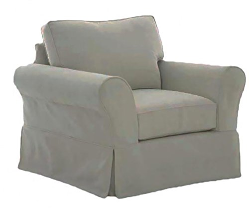 The Cotton Sofa Cover Only Fits Pottery Barn PB Comfort Roll Arm Armchair. A Durable Slipcover Replacement (Box Edge) (Chair Pottery Barn)