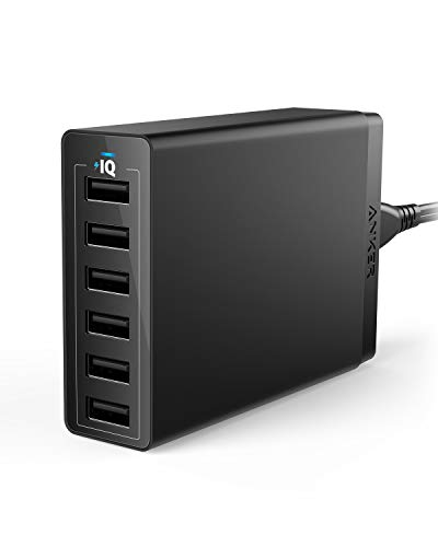 Anker USB Wall Charger, 60W 6 Port USB Charging Station, PowerPort 6 Multi USB Charger for iPhone XS/Max/XR/X/8/7/Plus, iPad Pro/Air 2/Mini/iPod, Galaxy S9/S8/S7/Edge/Plus, Note, LG, HTC, and (Best Anker Cheap Tables)
