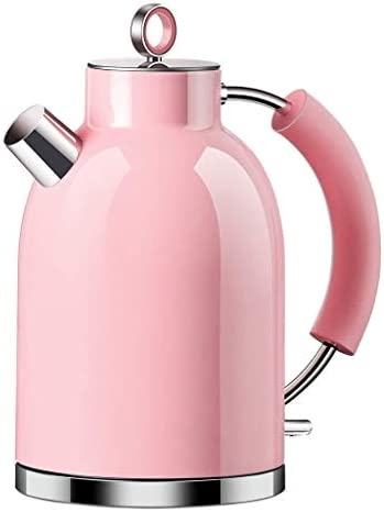 ZSQHD ケトル・電気・コードレス・クワイエット・ボイル、ステンレスフィルターやかん茶ヒーター&温水ボイラー、1.6L、BPAフリー、自動シャットオフ、空だき防止ケトル(ピンク)