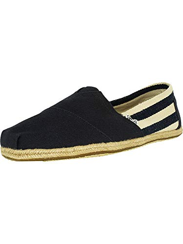 -  TOMS Men's Classic Canvas Slip-On, Navy Stripe University - 12 D(M) US