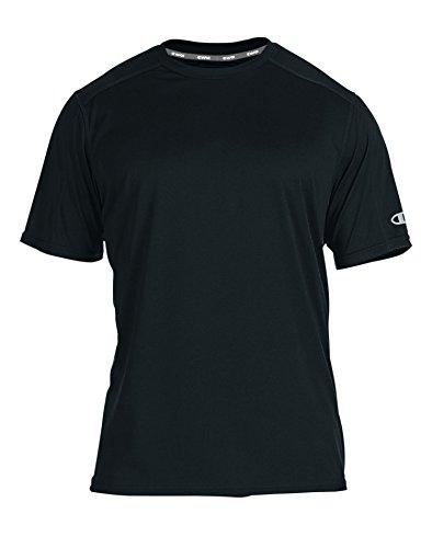 (Champion Men's Big & Tall Short Sleeve Solid Crewneck Tee 6X Big Black)