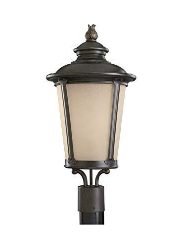 Sea Gull Lighting 82240EN3-780 One Light Outdoor Post Lantern, Burled Iron