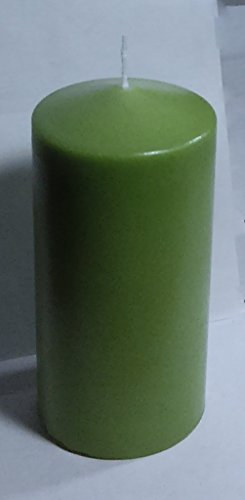 Higlow Citronella Scented 3 x 6 Pillar Candles Lime Green Mosquito Reppelnt Candle By Made In (Lime Green Pillar Candle)