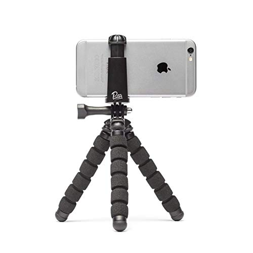 Pixter Gorilla Tripod for Smartphone and GoPro with Bluetooth Remote/Universal Clip for Androïd, iOS Phone and GoPro/iPhone / Samsung/Huawei / Sony/Honor / OnePlus