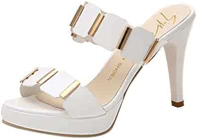 12838f33f5b Shopping 7.5 - Slip-On & Pull-On - Heeled Sandals - Sandals - Shoes ...