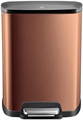 滑らかな表面 カフェゴミ箱缶、ふた広場リサイクルビン付きレストランリビングルームペダルビンベッドルームサイレントごみビン リサイクル可能なデザイン (Color : D)
