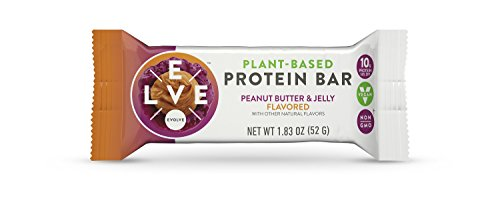 (Evolve Plant-Based Protein Bars, Peanut Butter & Jelly, 10g Protein,1.83Oz 12 Count)