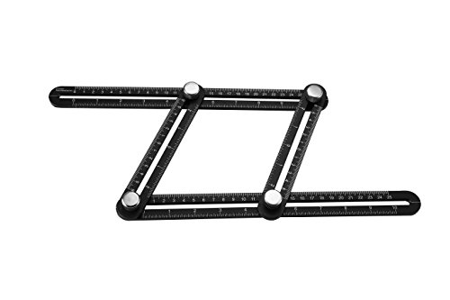 Measuring Tool - Measurement Tool - Angle Finder for Builders, Craftsman, DIY Projects - Alloy Angleizer Ruler and Template - Use on ANY Material - ALL METAL - By Premier Merchandise