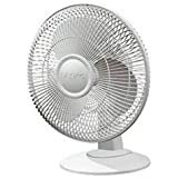 Lasko 12 Table Fan, 2-Speed, Black