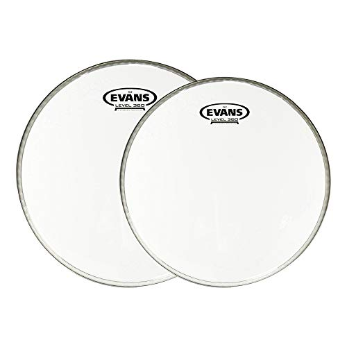 Evans 12/14 G2 Clear Drumhead (2 Pack Bundle) ()