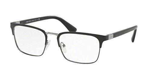 Prada PR54TV Eyeglass Frames 1BO1O1-53 - Matte Black - Matte Black Glasses Prada
