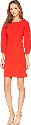 Vince Camuto Womens Bubble Sleeve Crepe Ponte Dress Spectrum Red XL