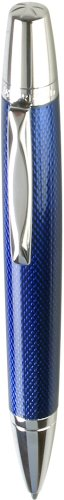 Waterford Kilbarry WF/452/GBL Ball Pen/Capless Roller Ball Guilloche Blue - Guilloche Waterford Kilbarry