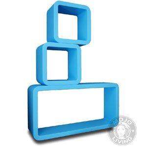 066 spielzeugregal aufbewahrung kinderzimmer regal wandregal ... - Kinderzimmer Regal Blau