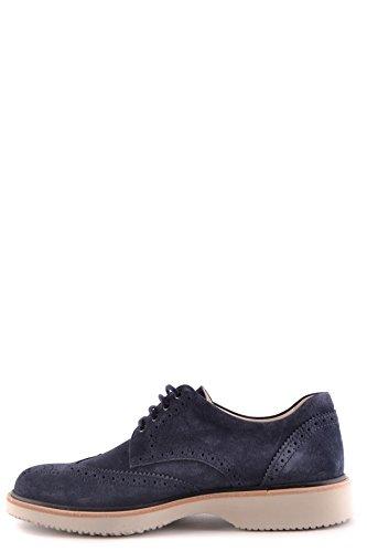 Hogan Homme MCBI148398O Bleu Suède Chaussures À Lacets