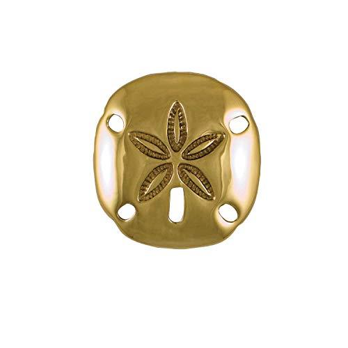 Sand Dollar Door Knocker - Brass (Premium Size)