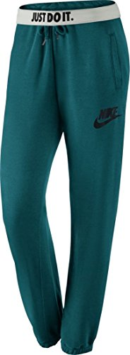 Nike Womens Rally Loose Sweatpants Teal/Black 545755-307 Size Medium