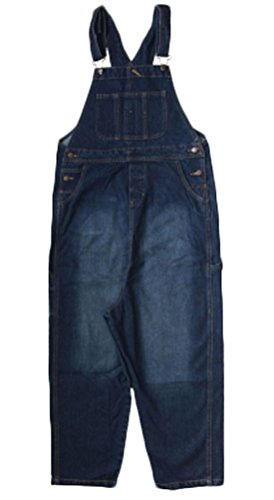 Soojun Women's Fashion Casual Loose Denim Bib Overalls 2 Blue