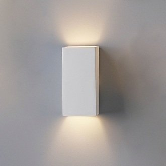 Bathroom Wall Light Sconces : 4.5 Inch Ceramic Block Wall Sconce-Indoor Lighting Fixture - - Amazon.com
