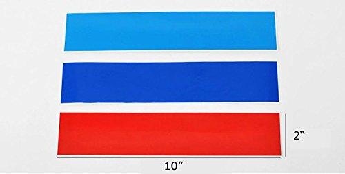 [해외]iJDMTOY (1) 그릴 펜더 후드 사이드 스커트 범퍼 사이드 미러 Dashbo와 같은 BMW 외장 또는 인테리어 장식용 10 M- 컬러 스트라이프 데칼 스티커/iJDMTOY (1) 10  M-Colored Stri