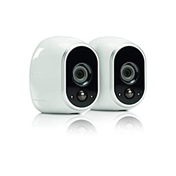 Netgear Arlo Smart Security – 2 HD Camera Security System,Wire-Free, Indoor/Outdoor with Night Vision (VMS3230) (VMS3230 (Renewed)