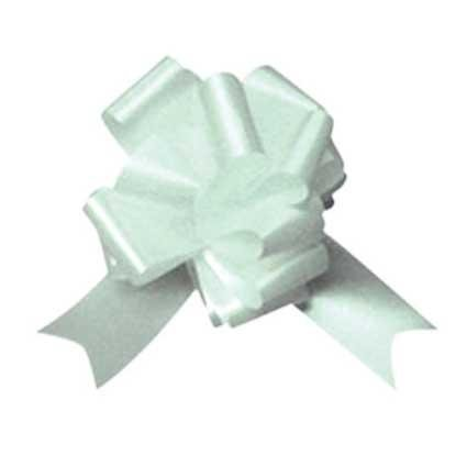 white pull bows pack of 10