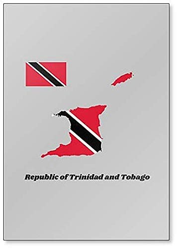 Map Outline and Flag of Trinidad and Tobago Fridge Magnet
