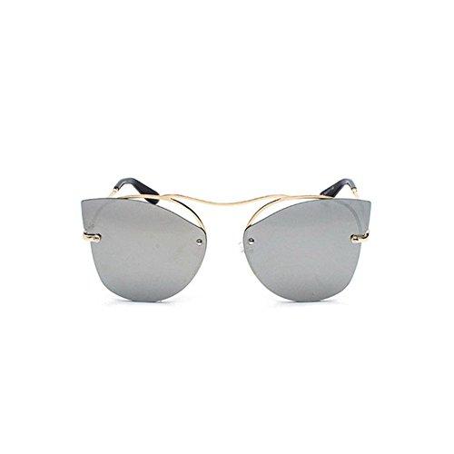 Aoligei Personnalité marée porter lunettes rondes font face à aucune frame lunettes rétro couleur lumineuse lunettes de soleil hxb5jtTIx