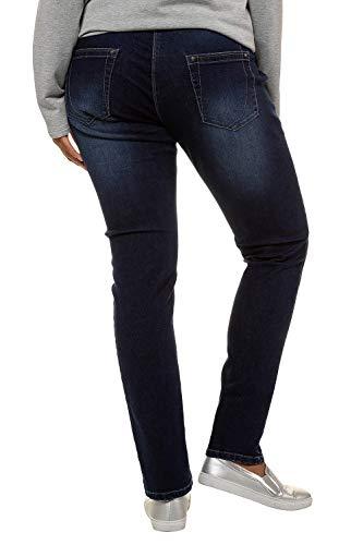 Popken 92 Femme Mit Jeans Bleu hten Skinny Glitzerelementen Bleached Ulla Ziern Und FqfxdF