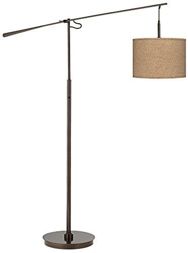 Woven burlap bronze balance arm floor lamp buy online in oman save aloadofball Images