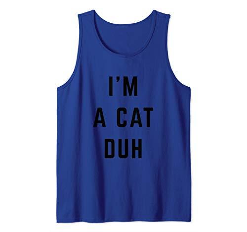 I'm a Cat Duh Easy Halloween Costume Tank