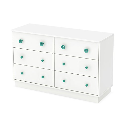 South Shore Little Monsters 6-Drawer Double Dresser, Pure White by South Shore