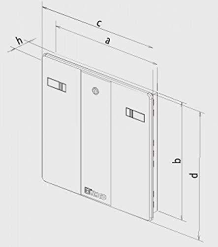 500x500mm Panel de acceso blanco de alta calidad de pl/ástico AEA