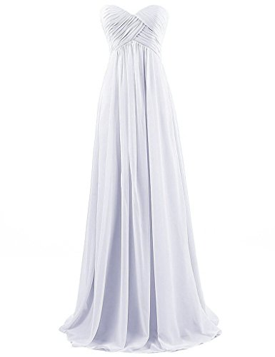 Pronovias Bridal Dresses - Cdress Sleeveless Sweetheart A Line Long Chiffon Beach Wedding Dresses Bridal Gowns US 26W