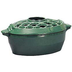 Woodeze Home Indoor Decorative Wood Stove Cast Iron Humidifier 3 Qt Lattice Top Steamer - Forest Green