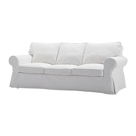 IKEA EKTORP - Cubierta sofá de tres plazas, blanco Blekinge ...