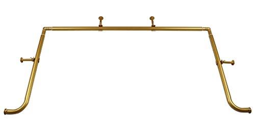 Meriville 1-Inch Diameter Bay Window Curtain Rod Set for Bayview Windows, Gold - Rod Blockade Curtain